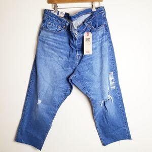 NEW Levi's 501 original straight leg cropped jeans